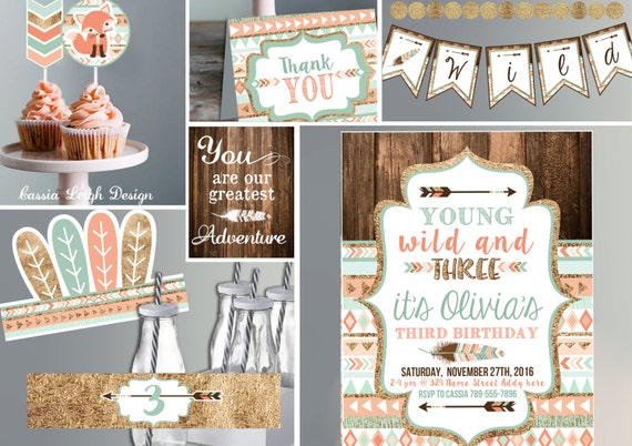 Bundle Save Young Wild And Three Invitations