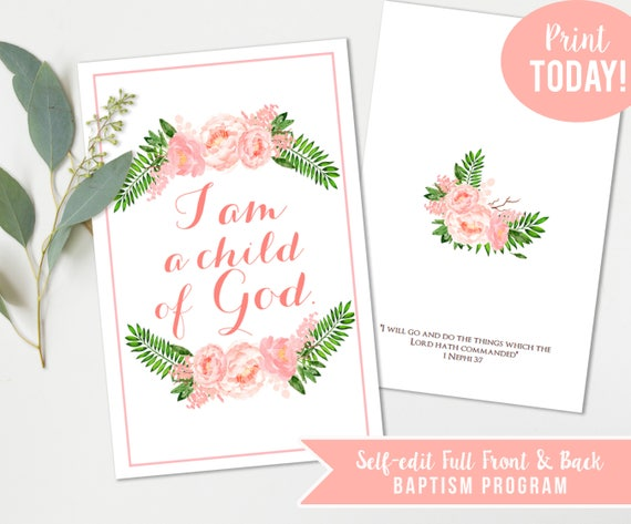 LDS Girls Baptism Program
