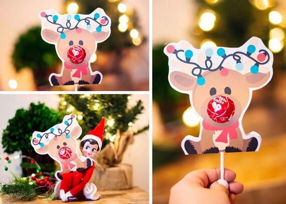 Reindeer Sucker Lollipop Holder Instant Download & Print