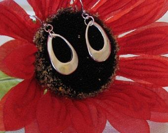 Silver Teardrop Earrings, Simple Silver Earrings, Minimalist Earrings, Dangle Earrings, Drop Earrings, Shiny Earrings, Wedding Bride Jewelry