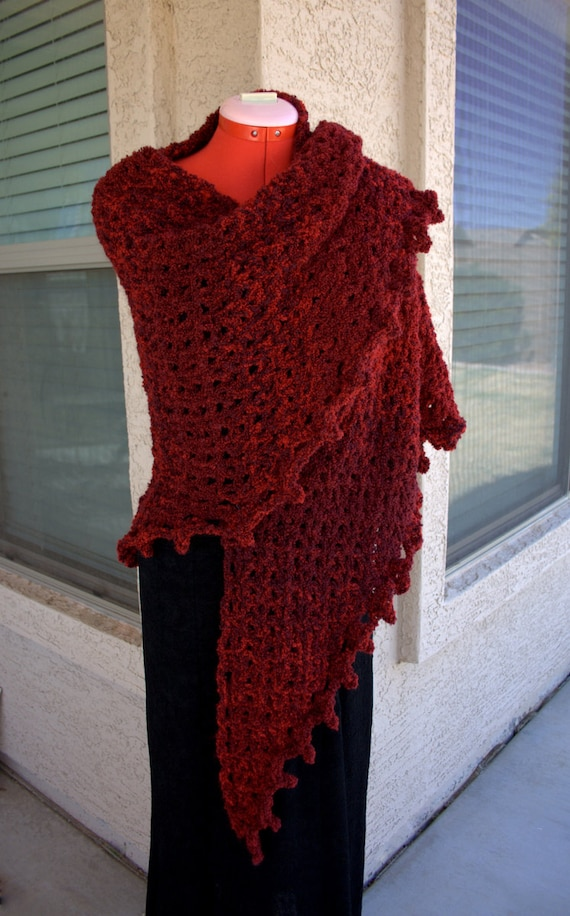 Pdf Digital Patternboucle Crochet Shawl Pattern Easy Crochet Etsy