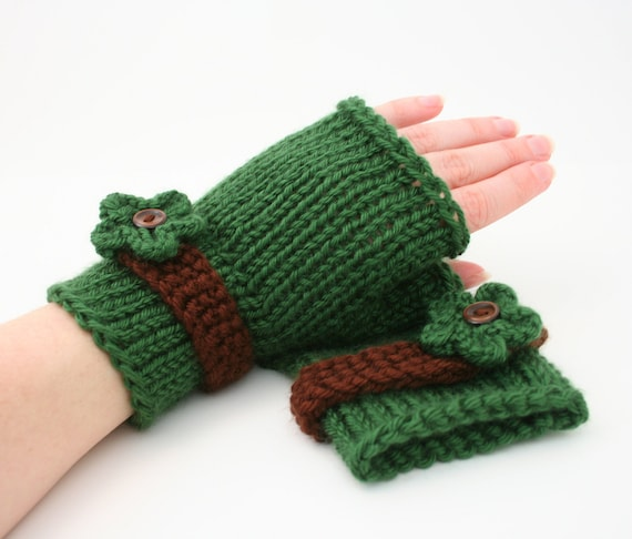 Pdf Digital Patterneasy Knit Fingerless Gloves Patternknit Etsy