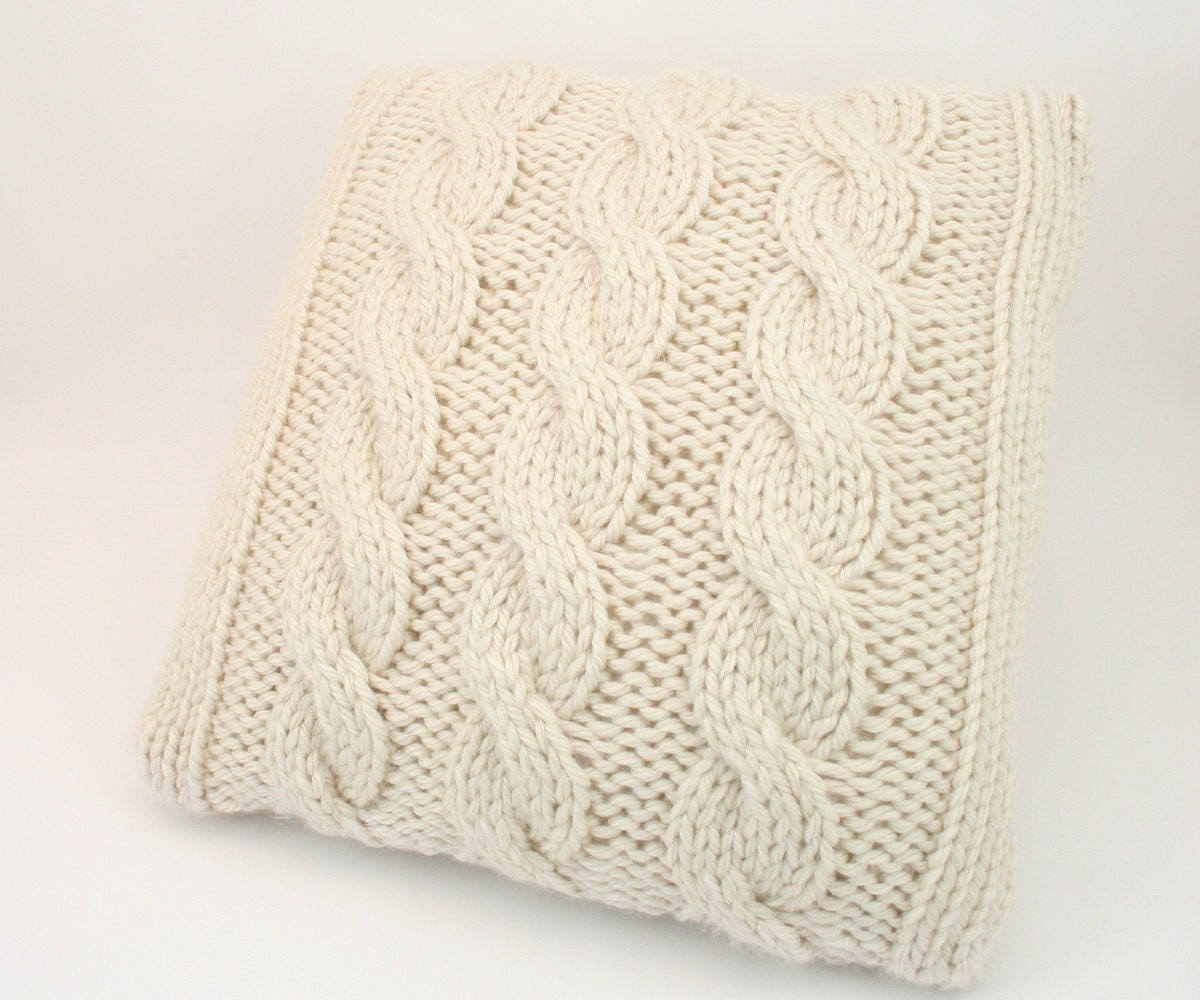 Pdf Digital Pattern Knit Pillow Cover Patternthrow Pillow Etsy