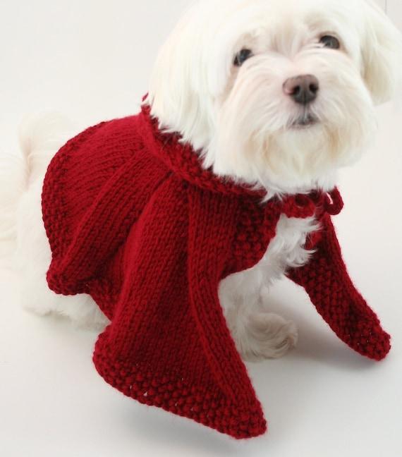 PDF DIGITAL PATTERN:Knit Dog Cape PatternLittle Red Riding | Etsy