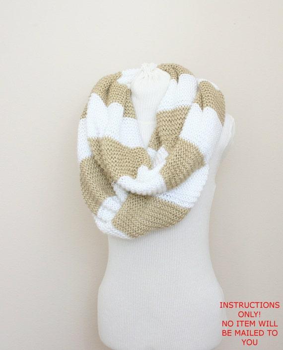 Pdf Digital Patternknit Infinity Scarf Patternscarf Knit Etsy