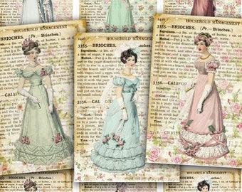 House Victoriana old fashioned Clip Art DIGITAL Collage Sheet Ephemera Sheet Gift Tag,Greetings,Paper Ephemera Embellishment