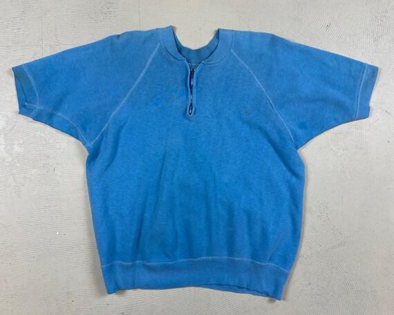 1950's vintage half zip sweatshirt ( Hanes Wind Sh