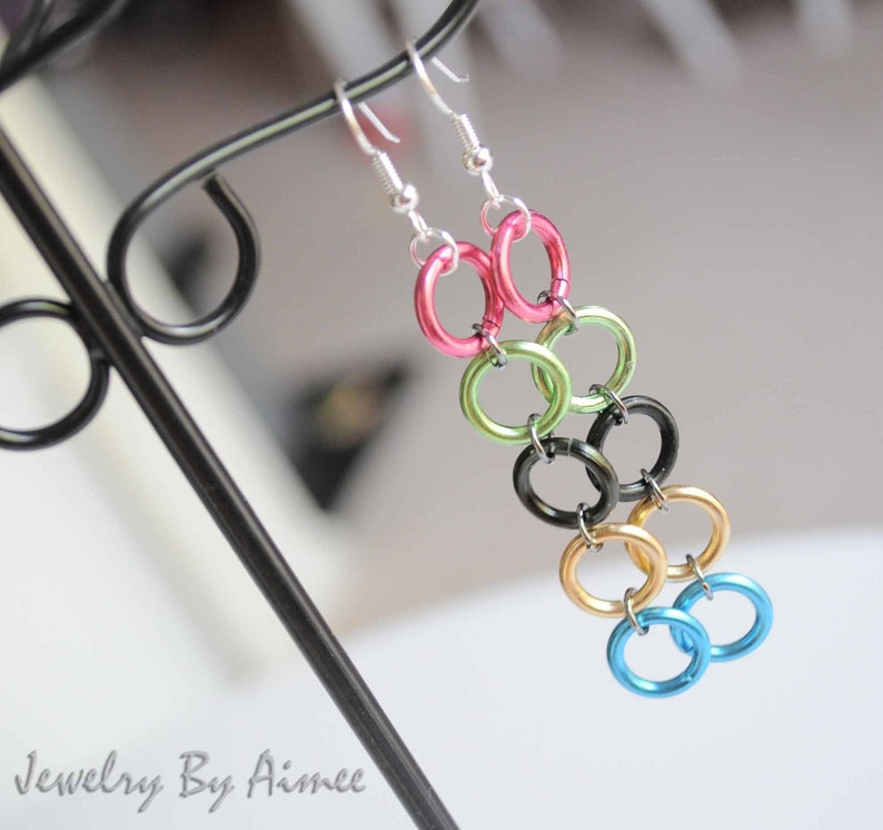 Olympic Rings Games Inspired earrings