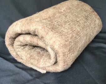 Merino/Shetland Wool Blend Brown Felt Sheet Rug