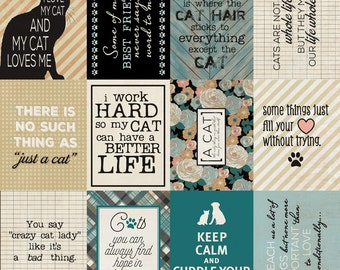 "Authentique Paper Collection ""Devoted"" 1 each 12x12 Feline & Canine Sheets"