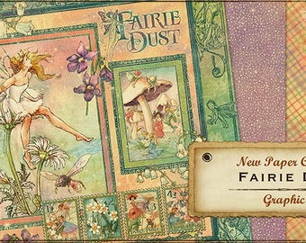 """Graphic 45 """"Fairie Dust"""" Set One of Each Sheet RETIRED"""