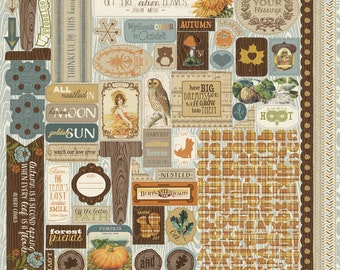 """Authentique Paper Collection """"Nestled"""" 12x12 Sticker Sheet"""
