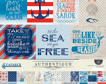 """Authentique Paper Collection """"Seafarer"""" Collection Kit"""