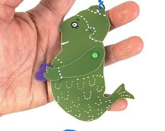 Whimsical Upcycled Mermaid Xmas Tree Ornaments by SuzanneUrbanArt