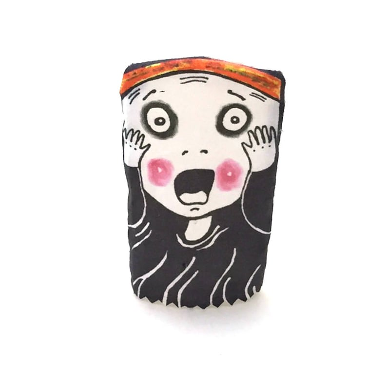 Funny Finger Puppet Parody of The Scream Fun Gift for image 0