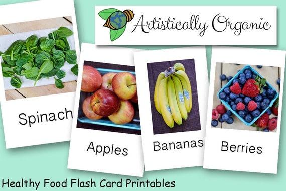 Gesunde Ernährung-Flash-Karten-sofort-Download 20 | Etsy