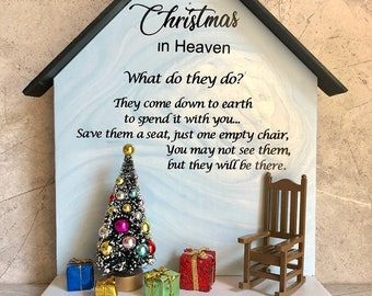 Christmas In Heaven Poem With Chair Printable.Empty Chair Etsy