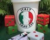 Yard-Zee - Customized YARD-ZEE games - Outdoor Lawn Games - Lawn Dice - Yahtzee - Outdoor Recreation - Italy - Farkle