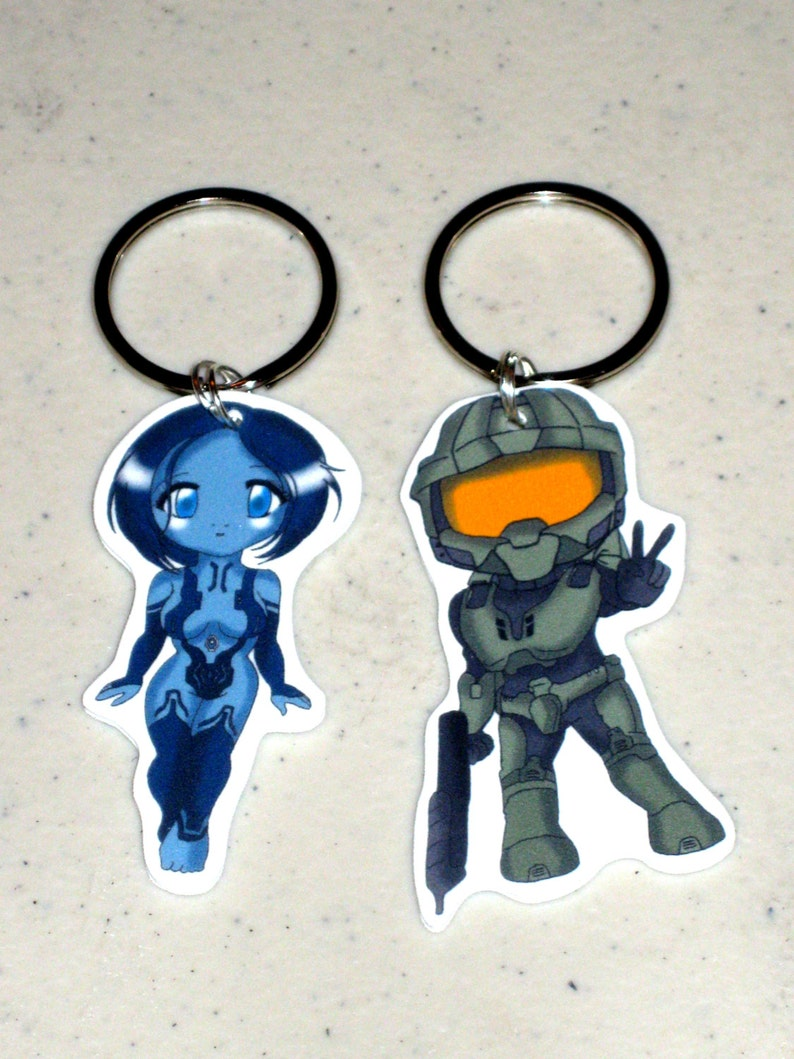 Master Chief or Cortana - Halo 4 - Keychain, Necklace, Earrings, Charm