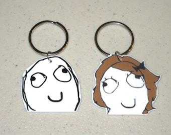 Derp or Derpina - Internet Meme - Keychain, Charm, Necklace, Earrings
