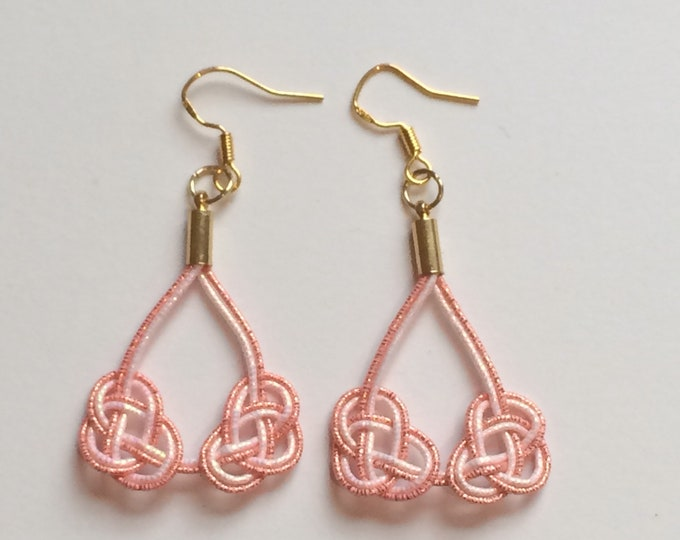 double awaji earrings < pink >