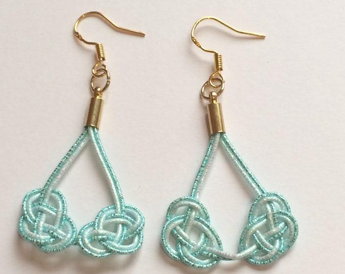 double awaji earrings <blue>