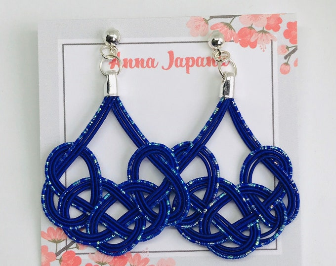 Large earrings <blue>