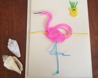 Flamingo summer card