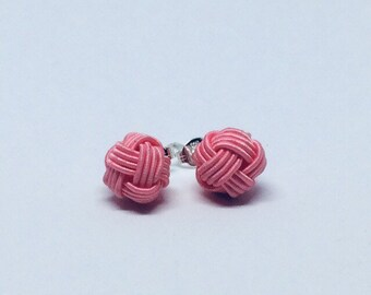 mizuhiki knot earrings <pink>