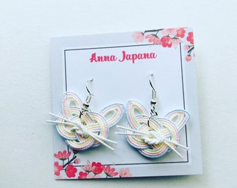 Pastel cats earrings