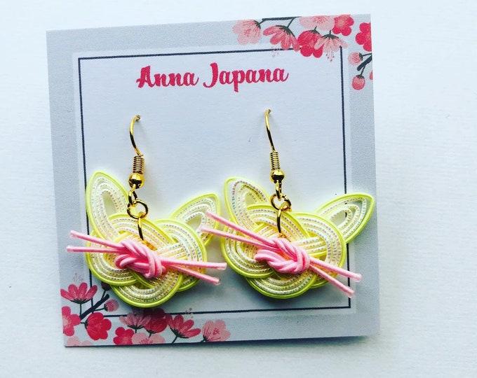 Yellow cats earrings