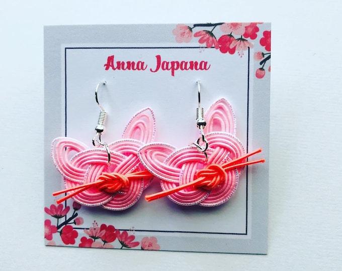 pink cats earrings