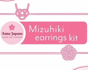 The Mizuhiki earrings kit