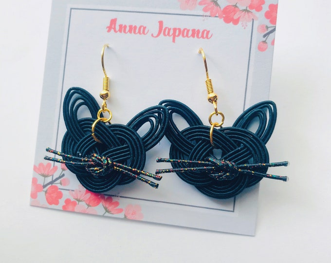 Brown or Black cats earrings