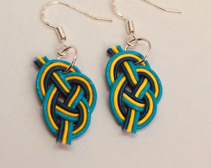 mizuhiki awaji earrings <blue>