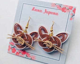 Cat earrings Brown