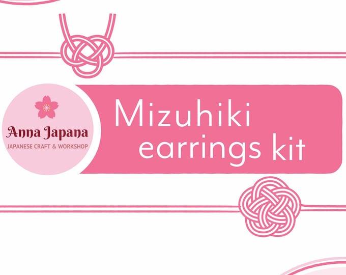 Featured listing image: The Mizuhiki earrings kit