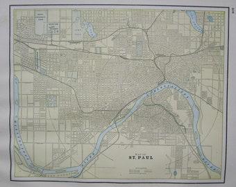St paul antique map