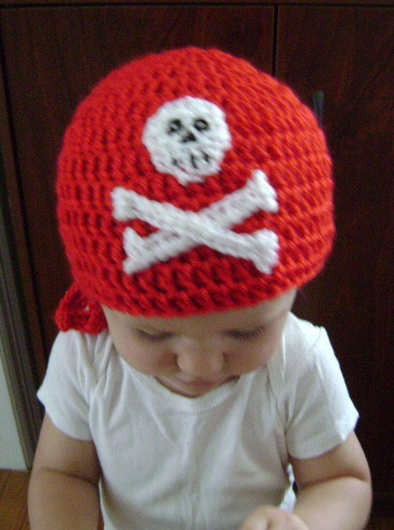 e344eb2d3ef53 Red pirate beanie | Etsy