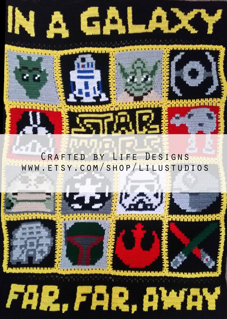 Star Wars Themed Charts For Crochet Or Knitting Pattern Graph Etsy