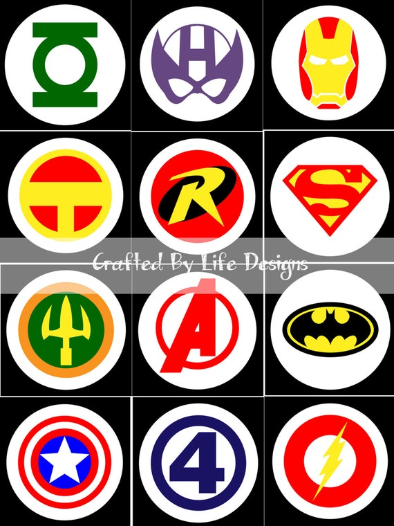 Superhero Logo Charts For Crochet Or Knitting Pattern Graph Etsy