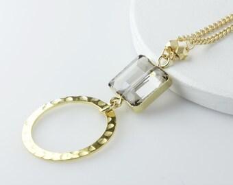 Gold Crystal Eyeglass Lanyard, Eyeglass Holder Necklace, Eyeglass Chain, Eyeglass Loop, Glasses Chains, Eyewear Lanyard, Gold eyeglass chain