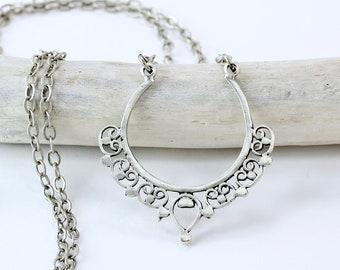 Silver Lace Eyeglass Chain, Antique Silver Glasses Chain, Boho Silver Sunglasses Holder,  Eyeglass Holder Necklace, Eyewear Retainer, maetri