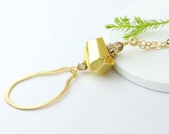Gold Nugget Eyeglass Necklace, Eyeglass Loop, Maetri, Eyewear Accessories, Gold Eyeglass Chain, Gold Eyeglass Holder Necklace, Sunglasses