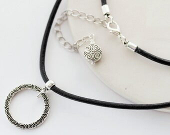 73c00b5352b5 Leather Eyeglass Loop Necklace