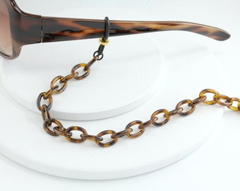44d81cdc5ee Tortoise Shell Eyeglass Chain - Tortoise shell Eyewear Chain