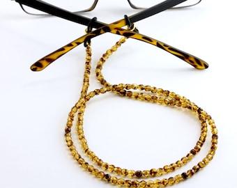 Tortoise Eyeglass Necklace, Tortoise Lanyard, Eyeglass chain, glasses chain, tortoise shell eyeglass holder chain, tortoise eyewear, eyewear