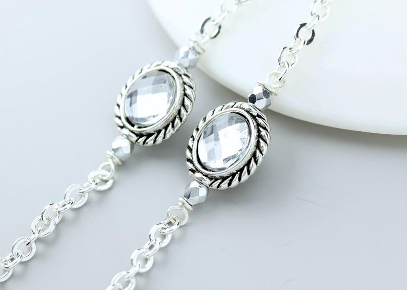 bc7558e152c7 Silver Eyeglass Chain Lanyard Eyeglass Necklace Silver