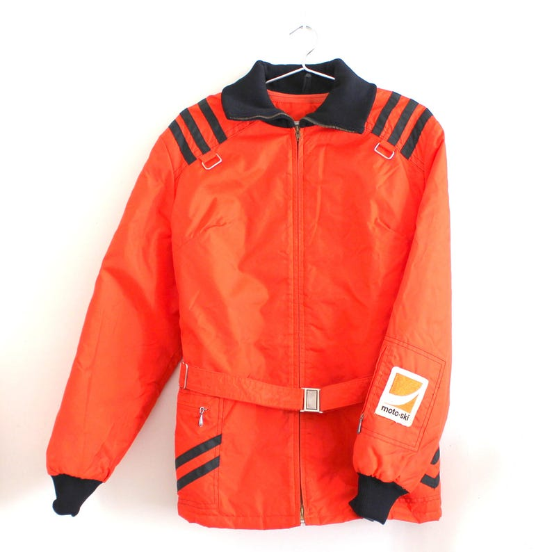 Womens Snowmobile Suits >> Vintage Womens Moto Ski Snowmobile Jacket With Elastic Collar Cuffs And Hood