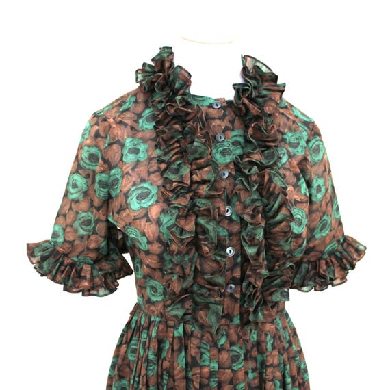 1950's Mode O' Day Dress with Ruffles Galore